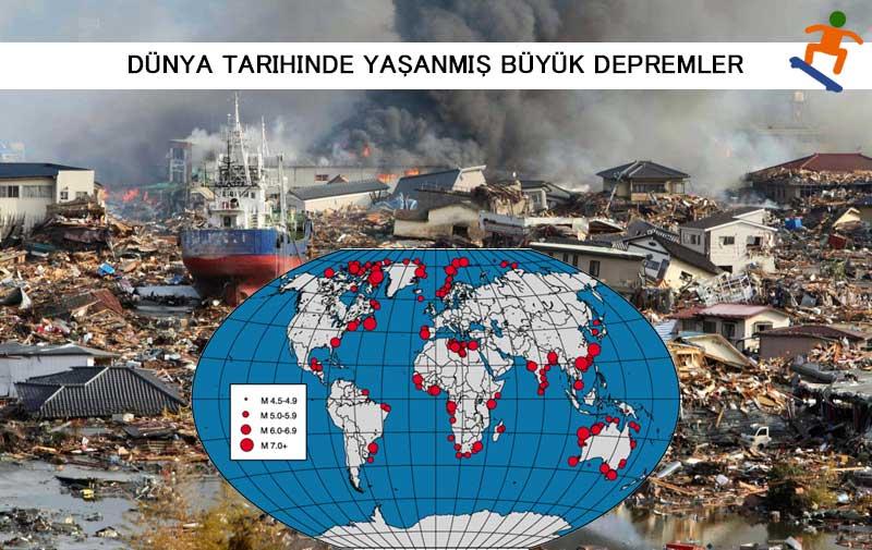 Dünya Tarihinde Yaşanmış Büyük Depremler